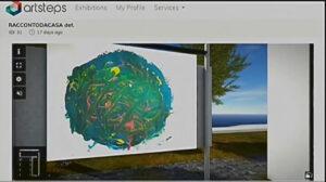 #RaccontoDaCasa: una delle schermate dell'incontro che mostra un'opera degli studenti