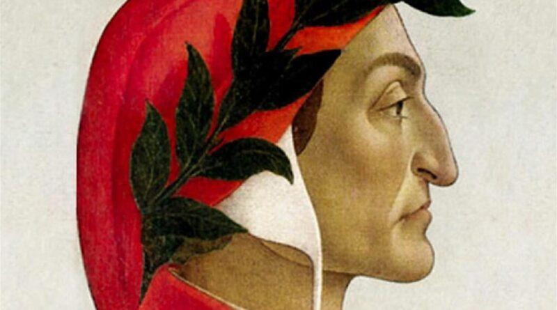 Dante Alighieri di profilo in un dipinto