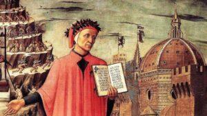 Dante Alighieri in un dipinto